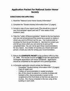 National Honor Society Recommendation Letter National Junior Honor Society Quotes Quotesgram