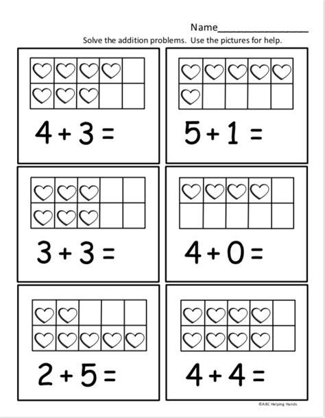 kindergarten math worksheet  kindergarten addition