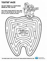 Coloring Dental Health Pages Teeth Dentist Printable Google Hygiene Tooth Care Maze Printables Activities Healthy Month Christmas Brushing Preschool Bucal sketch template