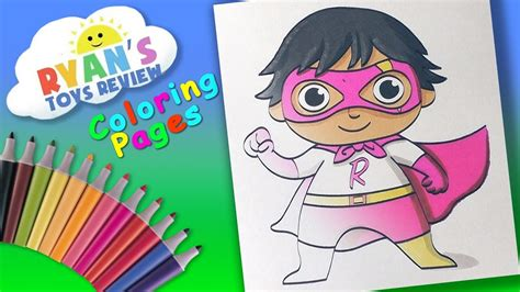 ryan toysreview coloring page forkids learn coloring