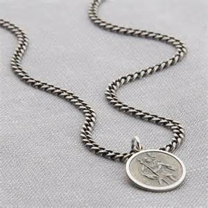 3rd wedding anniversary gifts personalised sterling silver st christopher necklace hurleyburley