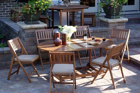Patio Table Set by Outdoor Interiors 7 Folding Patio Set Patio Table