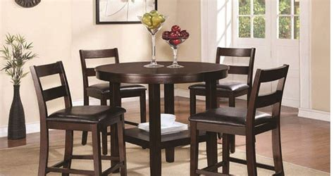 5 Piece Counter High Dining Set (dining Table And 4