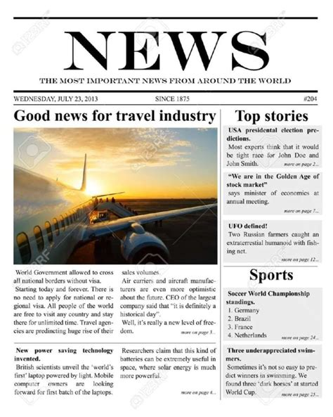 news template 9 newspaper templates word excel pdf formats