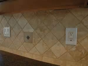 Diamond Travertine Kitchen Backsplash Tile