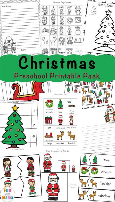free printable worksheets with 256 | Christmas Preschool Printable Pack