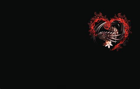 wallpaper dragon heart fantasy art valentine