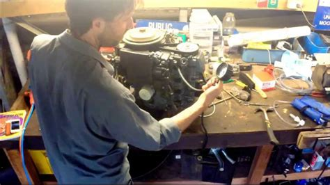 Boat Engine Compression Test by Performing A Compression Test On The Yamaha 50hp Outboard