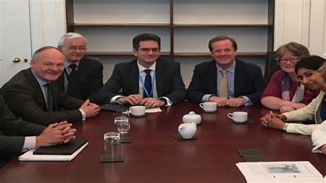 Brexit minister Steve Baker met by Dover MP Charlie ...