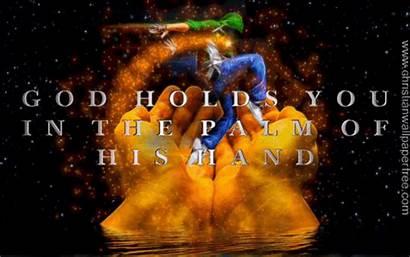 God Hand Palm Holds Christian