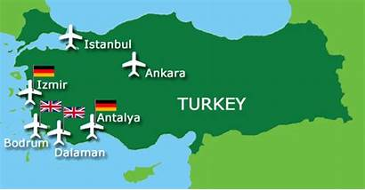 Turkey Tourism Growth Airports Map Aero Without