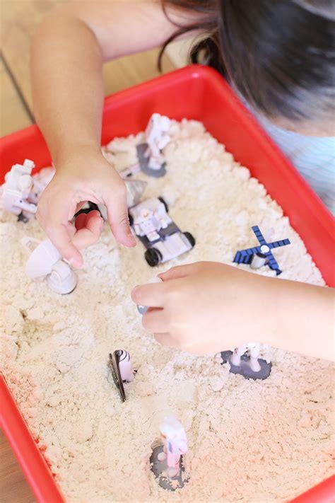 craft easy moon sand recipe  kids  vanessa craft