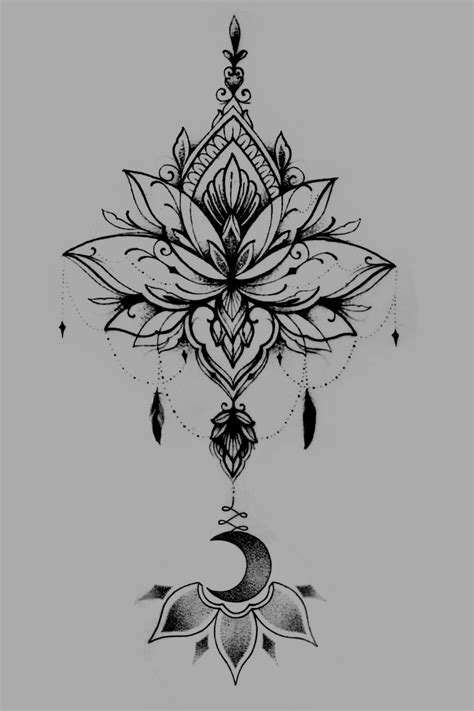 Tattoo uploaded by Lucy Dylori   Fusion lotus flower, dream catcher and unalome. #luna #flor #