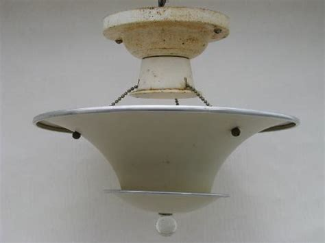 deco vintage ceiling light fixture tiered aluminum