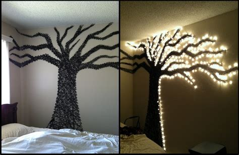 Xmas Curtain Lights by Christmas Light Wall Art Use Driftwood And Lights To Memes