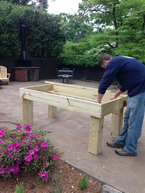 raised garden table raised garden table plans woodworking projects plans