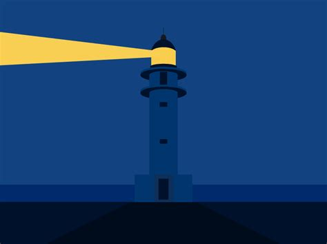 lighthouse animation  paarth desai  dribbble
