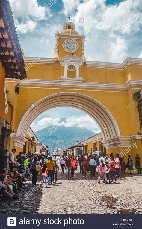 Antigua Guatemala Arch Stock Photos And Antigua Guatemala