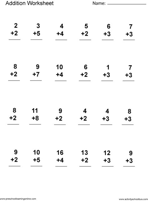 addition 1st grade printable first grade math worksheets