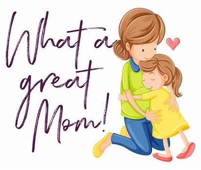 Mom Hugging Daughter Maman Mutter Avec Sa