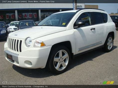 jeep compass sport white 2007 jeep compass limited in stone white photo no