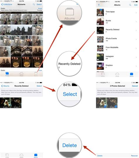 recently deleted photos iphone how to delete recover and eradicate pictures and 2393