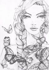 Coloring Monja Gates Adult Gesicht Kindle Frau Kleurplaten Tekeningen Skull Mariola Budek Colouring Dreams Colour Skizzen Tekening Kleurboeken Bleistiftzeichnungen Malvorlagen sketch template