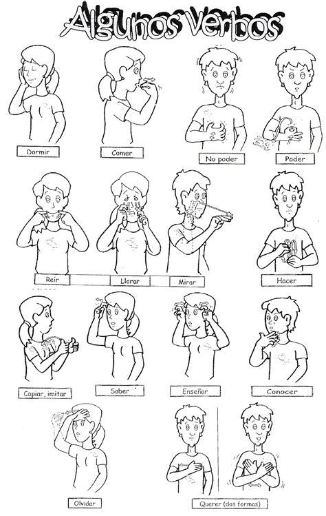 verbos en lengua de signos dibujos lengua de signos