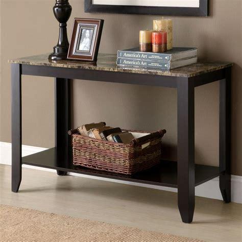 sofa table with bottom shelf meissner sofa table bottom shelf cappuccino finish