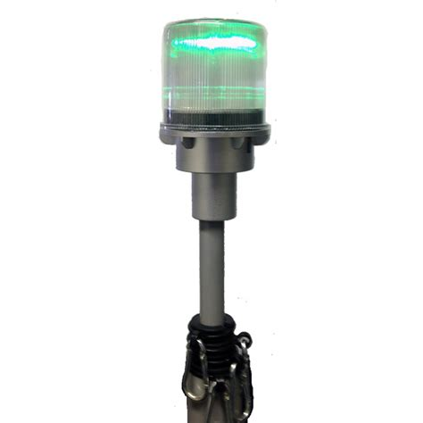 telescoping flagpole with solar light solar flashing beacon to fit on our heavy duty 22