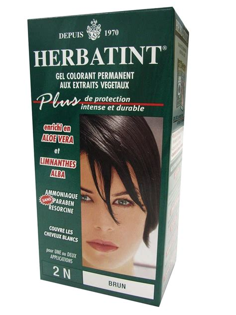 coloration vegetale brune herbatint vente de teinture