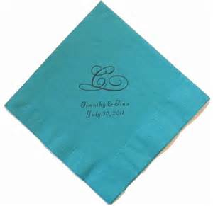 personalized wedding napkins monogram napkins monogrammed wedding napkins initial