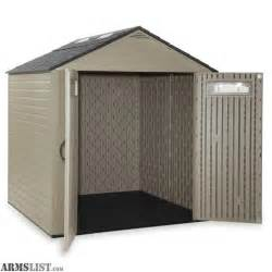 armslist for sale rubbermaid roughneck 7 25 ft x 7 2 ft gable storage shed