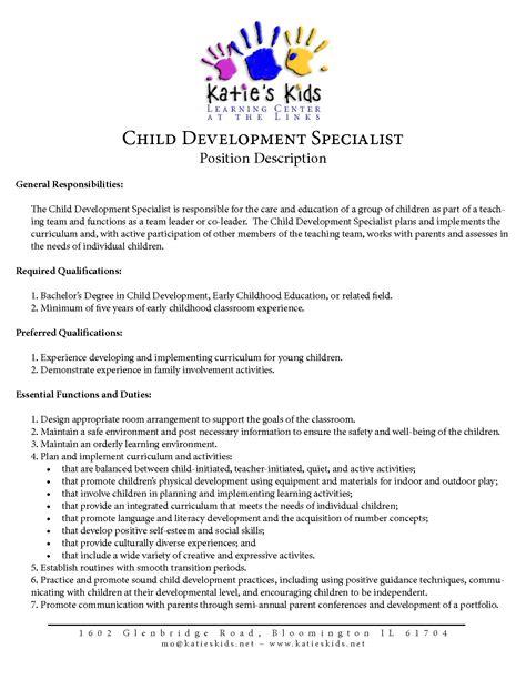 Child Development Resume by Early Childhood Education Resume Resume Badak