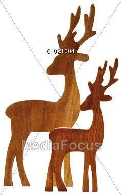 reindeer wood patterns reindeer figurines  wood