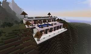 Modern Minecraft Cliffside Mansion