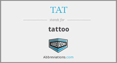 abbreviation  tattoo