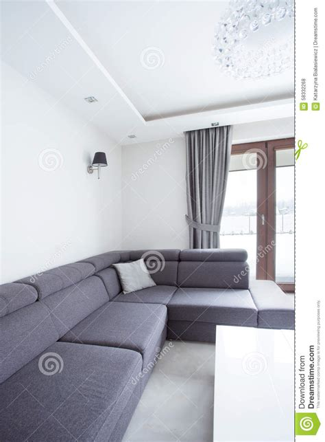 corner sofa  drawing room stock photo image  cushion