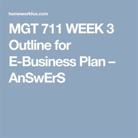 mgt  week  outline   business plan  images