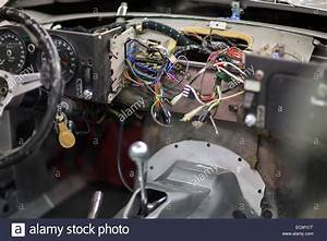 The Dashboard Wiring Of A Jaguar E Type V12 At The Repair