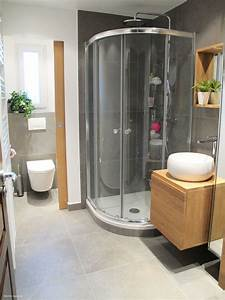 inside creation renovation de salle d39eau pour petit budget With porte de douche coulissante avec renovation salle de bain mulhouse