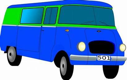 Bus Clip Clipart Polish Nysa Hippie Minibus