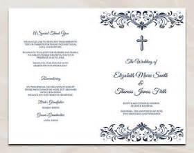 folded wedding programs catholic invitations on etsy a global handmade and