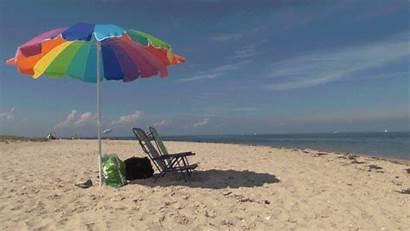 Beach Summer Chair Gifs Sea Tenor Giphy