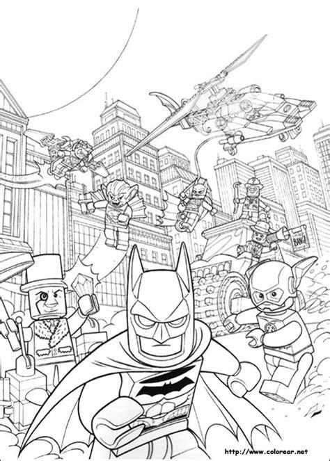 dibujos  colorear de lego batman