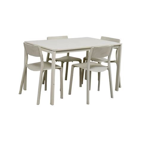 ikea ikea white kitchen table  chairs tables