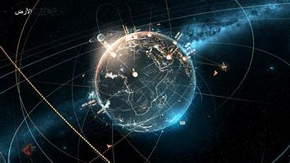 Hud Space Earth Future Technology Interface Animation