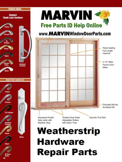 marvin window door parts weatherstrip hardware repair parts san diego