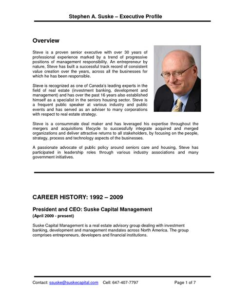 entrepreneur resume template best photos of executive
