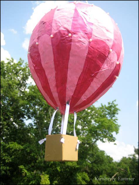 paper mache hot air balloon pinata  decoration